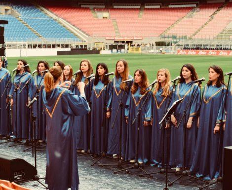 Jubilant Gospel Girls live in Stadio San Siro di Milano